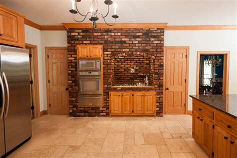 Accent Wall In Kitchen by Brick Accent Wall Traditional Kitchen Other Metro