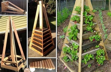 How To Make Vertical Garden Planters Diy Vertical Pyramid Tower Garden Planter