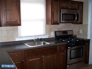 Small Kitchen Redo Ideas stove next to wall has wrap around backsplash and a small