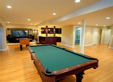 Finished Walkout Basement finished basement with game room kitchen and home theatre