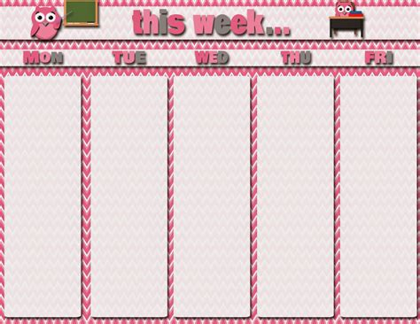 printable calendar girly 7 best images of free printable weekly student calendars