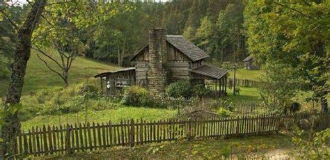 log cabin house country fence homestead pinterest