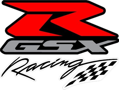 gsxr emblem black red and silver gsxr racing decal sticker