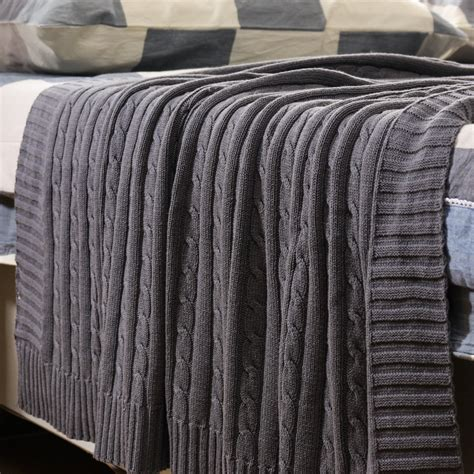 cable knit blanket new cotton cable knit blanket sofa soft cozy high