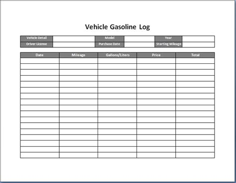 car log book template vehicle maintenance log book template