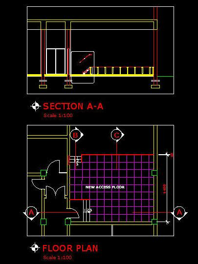 cad details floors access floor matching stair details