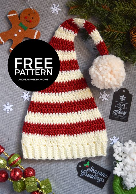 christmas hats for newborn to adult free crochet