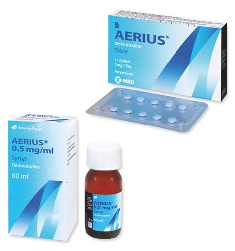 Aerius Syrup aerius tab 5 mg 5 mg tablet mims