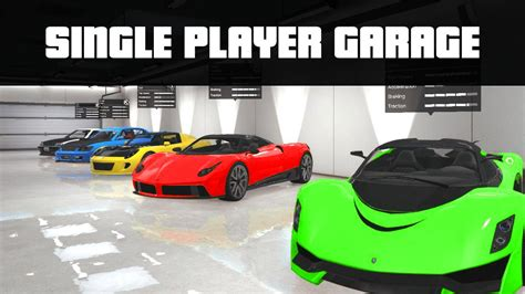 single player garage mod store 100 s of vehicles gta