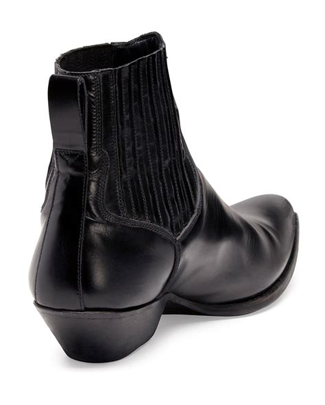 mens laurent boots laurent low cowboy boot in black for lyst