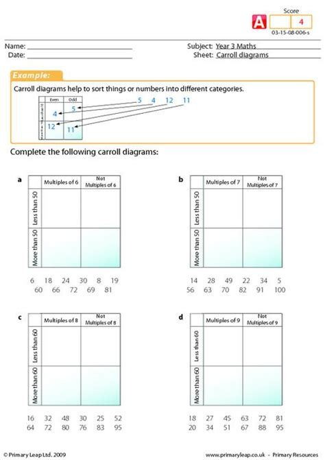 carroll diagrams primaryleap co uk