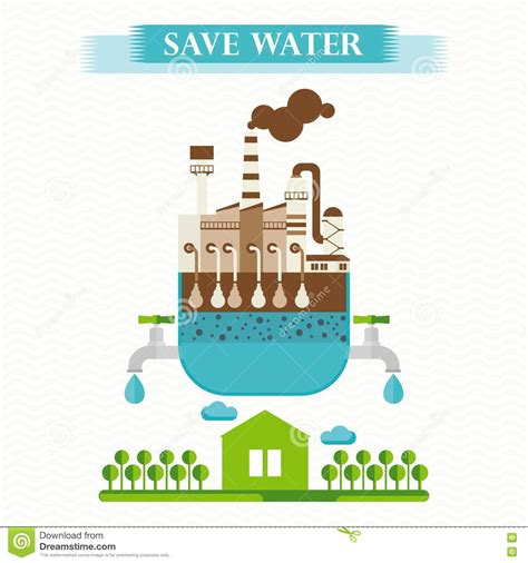 design poster save water save water poster stock vector image 76915994