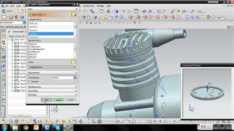 youtube tutorial nx siemens nx 8 5 engine tutorial 12 assembly youtube