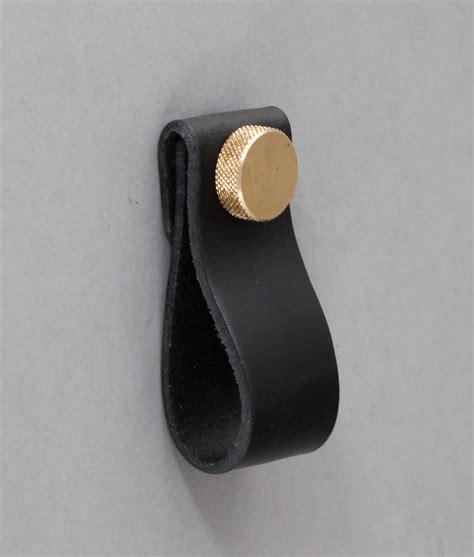 magni obsidian leather kitchen door handles black leather