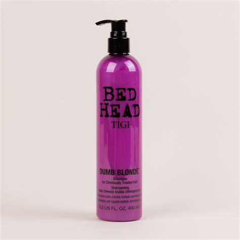 bed head dumb blonde tigi bed head dumb blonde shoo 400ml milk blush uk