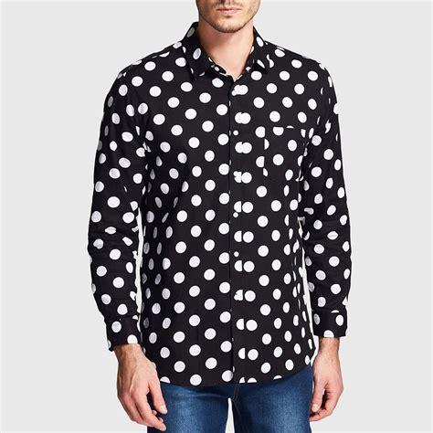 Polkadot Shirt popular mens polka dot shirt black and white buy cheap mens polka dot shirt black and white lots