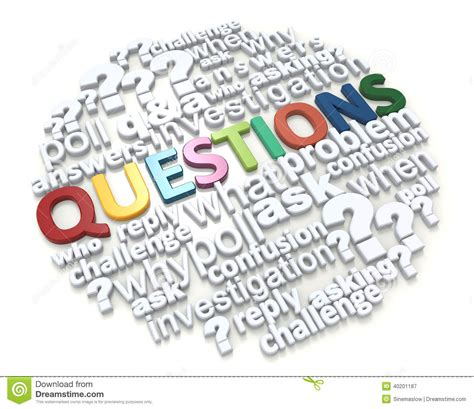 typography questions colorful word questions stock illustration image 40201187