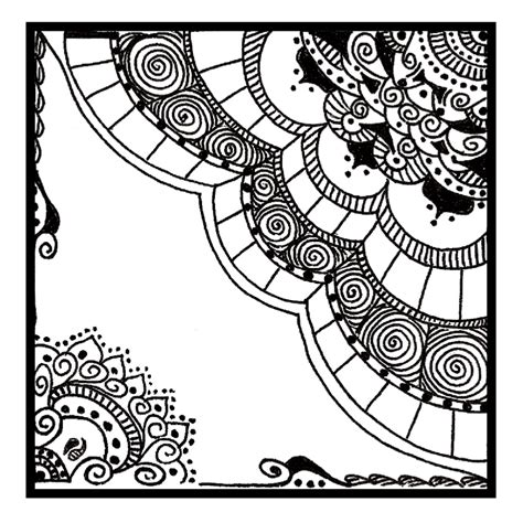doodle zentangle deco zentangle