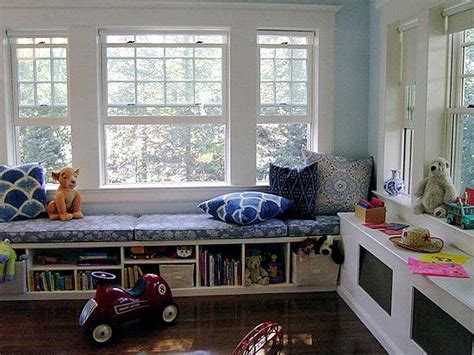 window seat version playroom window seat storage rooms houses