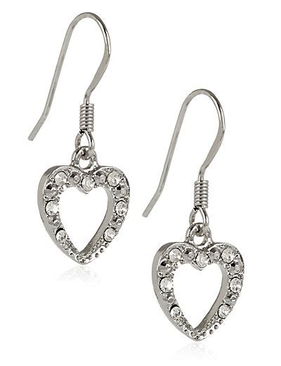 Marks And Spencer Oval Drop Earrings by Diamant 233 Sparkle Drop Earrings M S