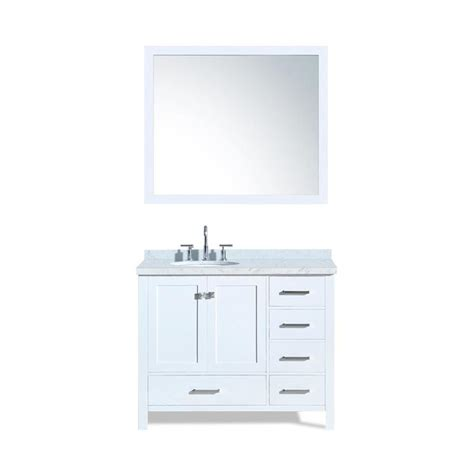 bathroom vanity tops 43 x 22 shop ariel cambridge white undermount single sink bathroom