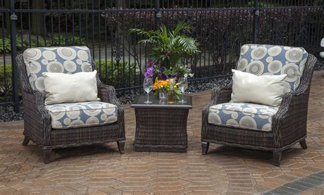 All Weather Wicker Patio Chairs Mila Collection 2 Person All Weather Wicker Patio Furniture Chat Set W Stat Chairs