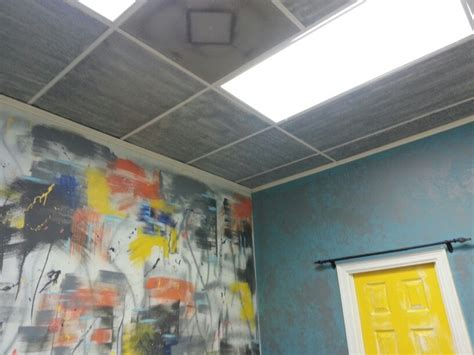 how to spray paint a ceiling ceiling tiles spray paint mkover yeah by