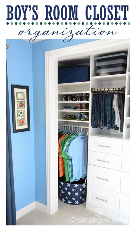 tween boys room organized closet reveal organizing homelife