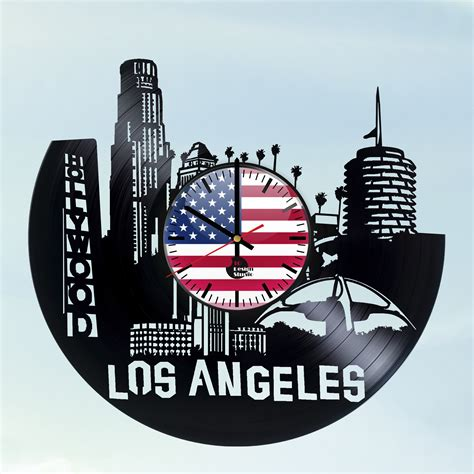 City Of Los Angeles Records City Of Los Angeles Handmade Vinyl Record Wall Clock Fan Gift Vinyl Clocks