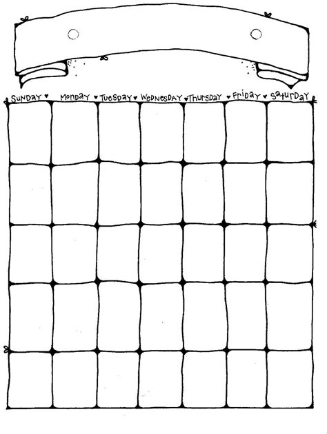 Blank Calendar Pages Printable Blank Calendar Pages Activity Shelter