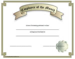 Employee Of The Month Certificate Templates Employee Of The Month Certificate Get Domain Pictures