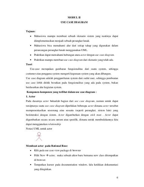 cara membuat use case diagram pada rational rose modul uml