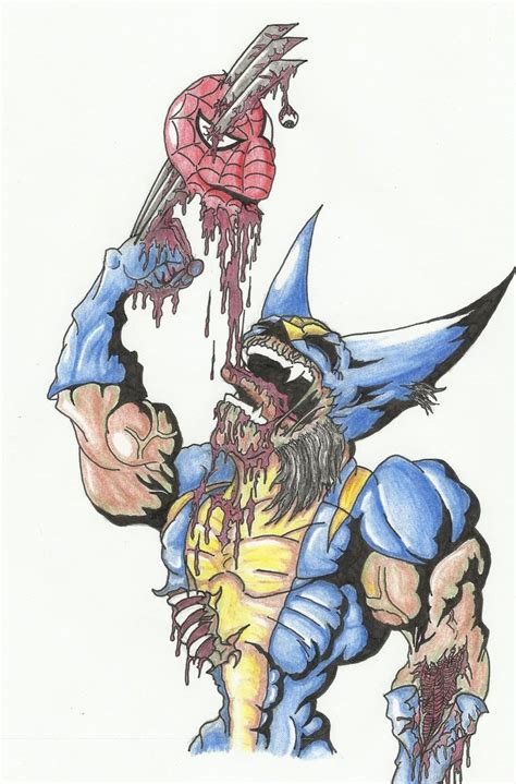 imagenes chidas de zombies zombie wolverine colored by theloathedone on deviantart