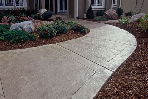 Decorative Concrete Walkways by Decorative Front Sidewalk Buchheit Construction
