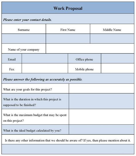 bid form template free templates downloads search results