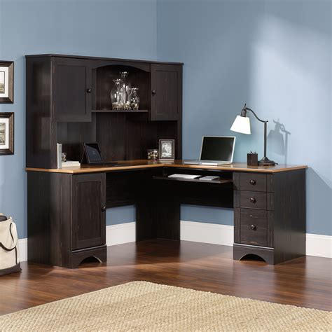 cheap corner desk with hutch harbor view corner computer desk 403794 sauder