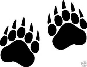 bear paw prints vinyl decals stickers 10 sets of 2 3