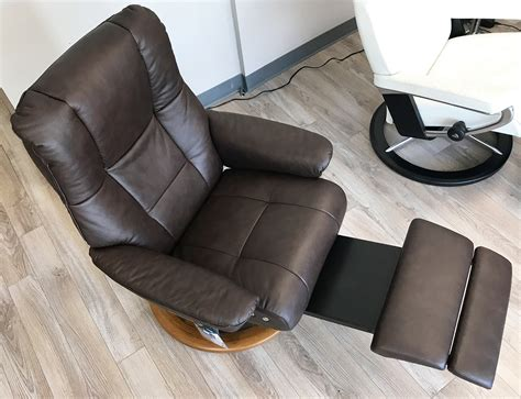 Comfortable Leather Recliner by Stressless Mayfair Leg Comfort Power Footrest