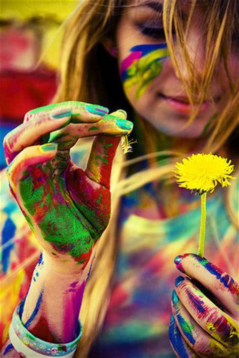 beautiful color colour flower paint image 52854 on favim