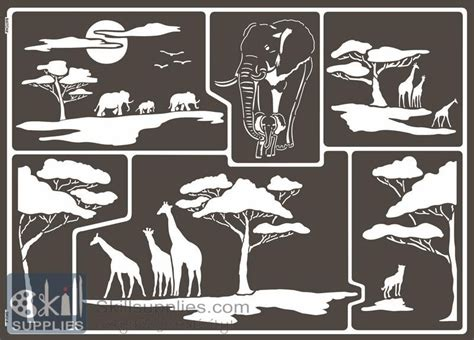 window stencils window glass stencil a3 africa from skillsupplies