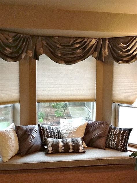 Bedroom Valance by Bay Window Valances Traditional Bedroom Seattle By