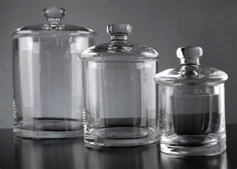 clear glass kitchen canister sets glass apothecary jars display merchandising favorite
