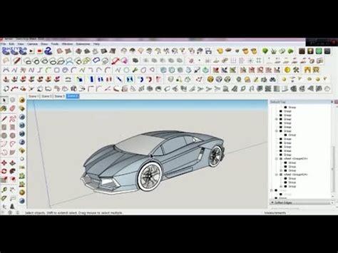 google sketchup car tutorial google sketchup car tutorial how to make 3d lamborghini
