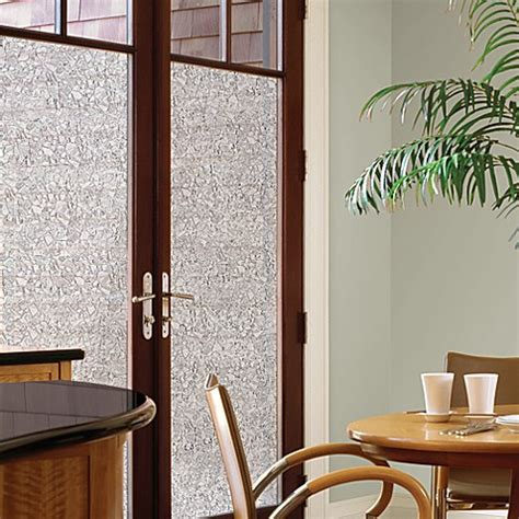 Decorative Privacy Film Door Glass Cling In Mosaic Bed Privacy Glass Door