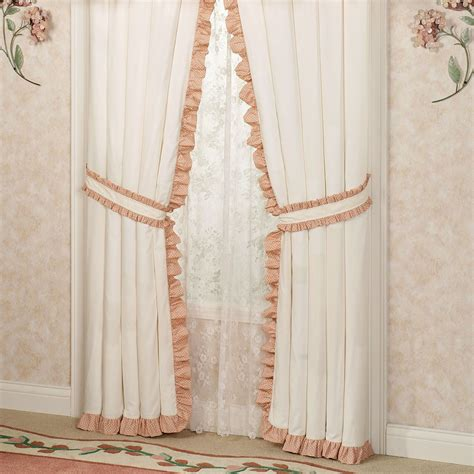 Ruffled Window Curtains Melody Floral Ruffled Window Treatments