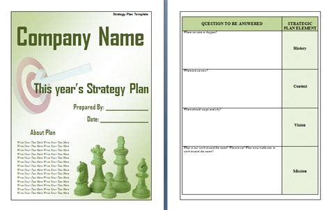 strategic plan template free word s templates
