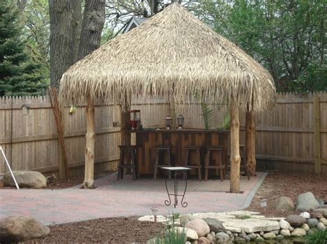 Tiki Hut Finished Backyard Tiki Bar Pinterest Backyard Tiki Hut