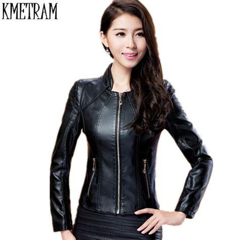 Jaket Fashion Wanita Trendy leather jacket 2017 plus size fashion trendy autumn winter jaqueta couro coat
