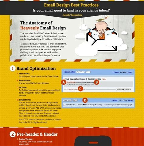 email newsletter layout best practices 7 best images about web design infographics on pinterest