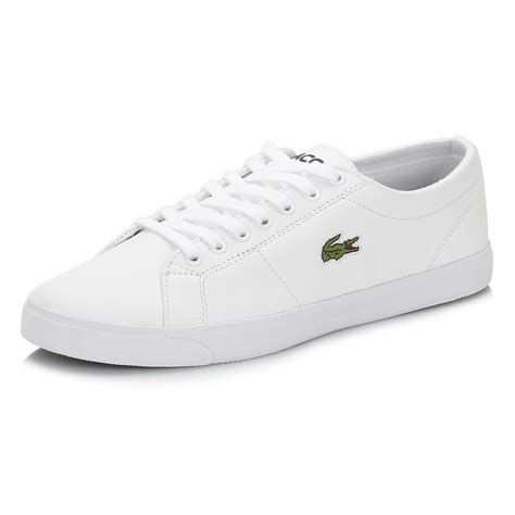 lacoste sport shoes lacoste mens white marcel lcr3 leather trainers lace up